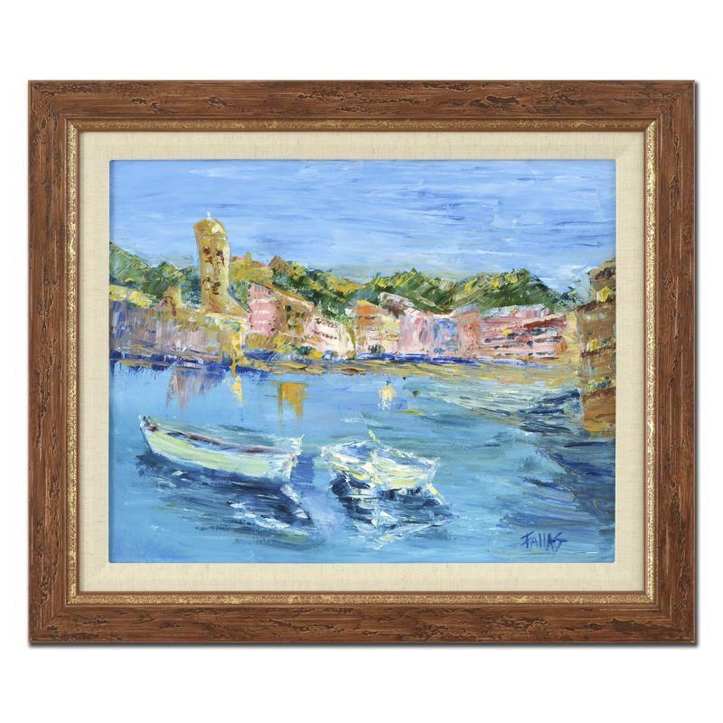 """Elliot Fallas Oil on Canvas """"Italian Bayview"""""""