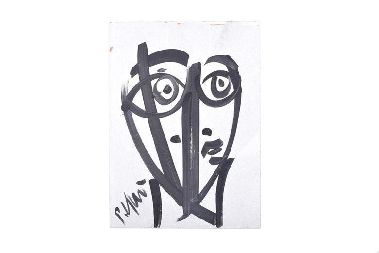 "Peter Keil Acrylic on Board ""Untitled"""