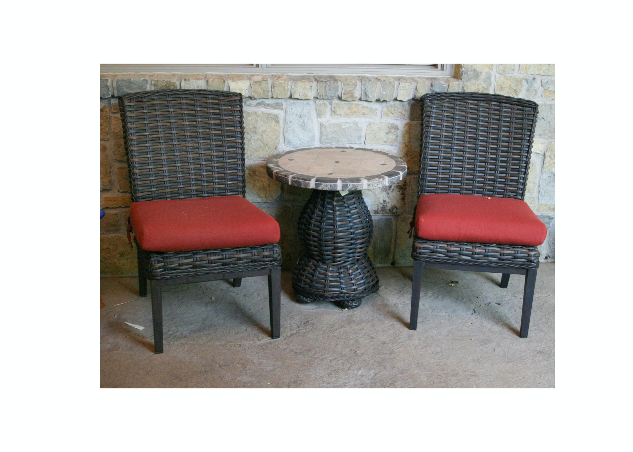 "Patio Renaissance ""Catalina"" Side Chairs and Table"