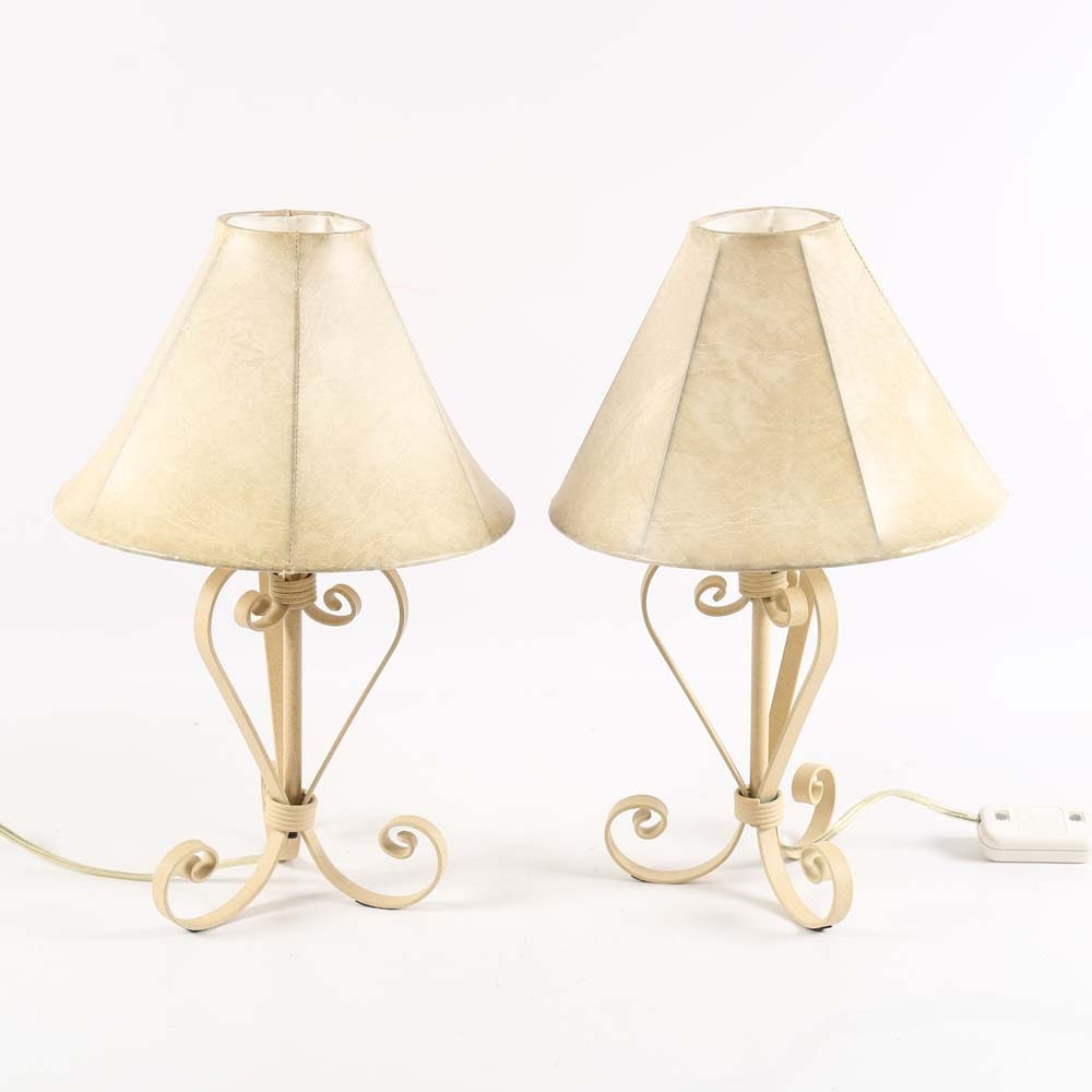 White Metal Table Lamps