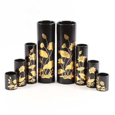 Thai Lacquer Vases