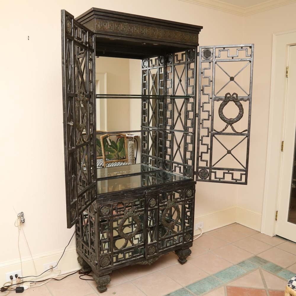 Open Iron Display Cabinet