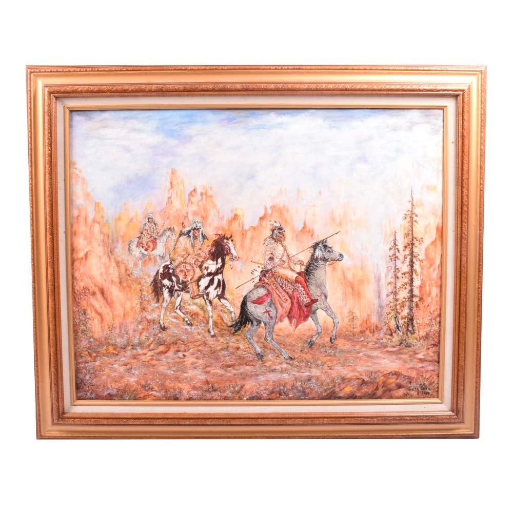 Helen Owen Acrylic Painting on Canvas