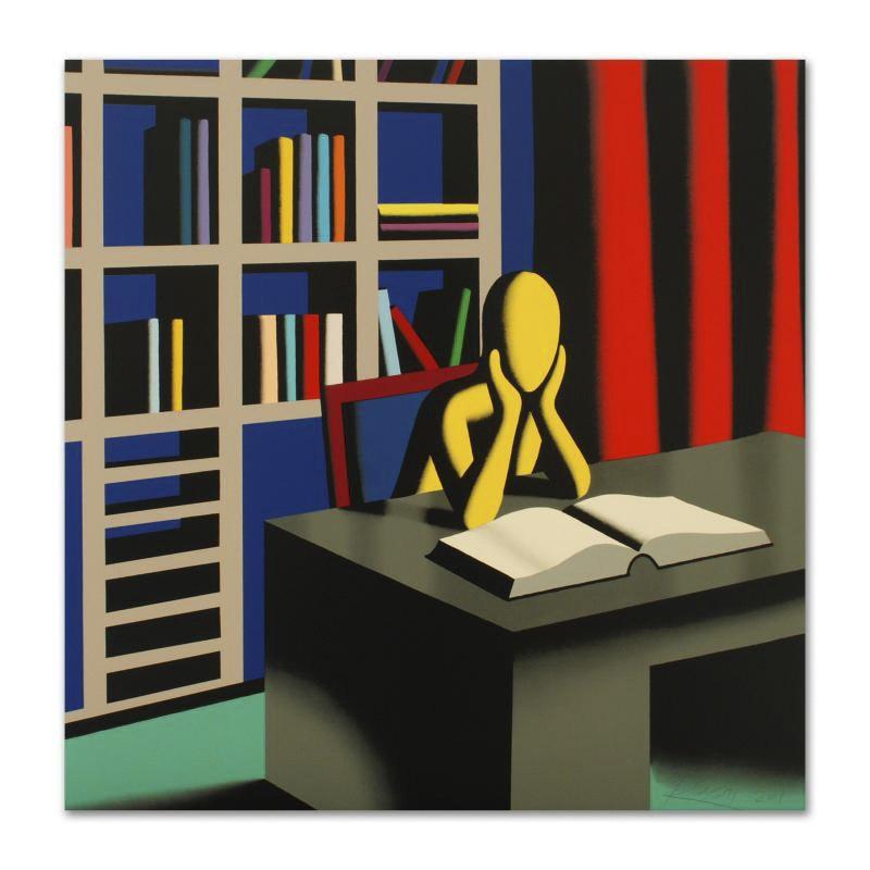 "Mark Kostabi Limited Edition Serigraph ""Useless Knowledge"""