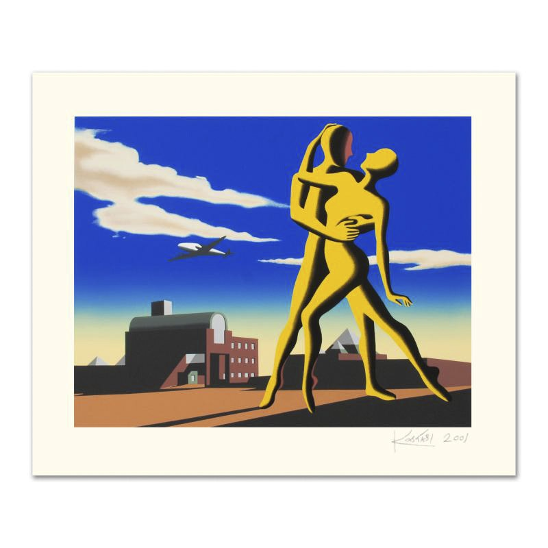 """Mark Kostabi Limited Edition Serigraph """"Yesterday's Here"""""""