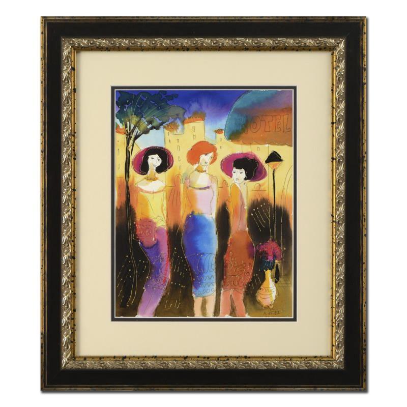 "Moshe Leider Watercolor ""Hotel"""