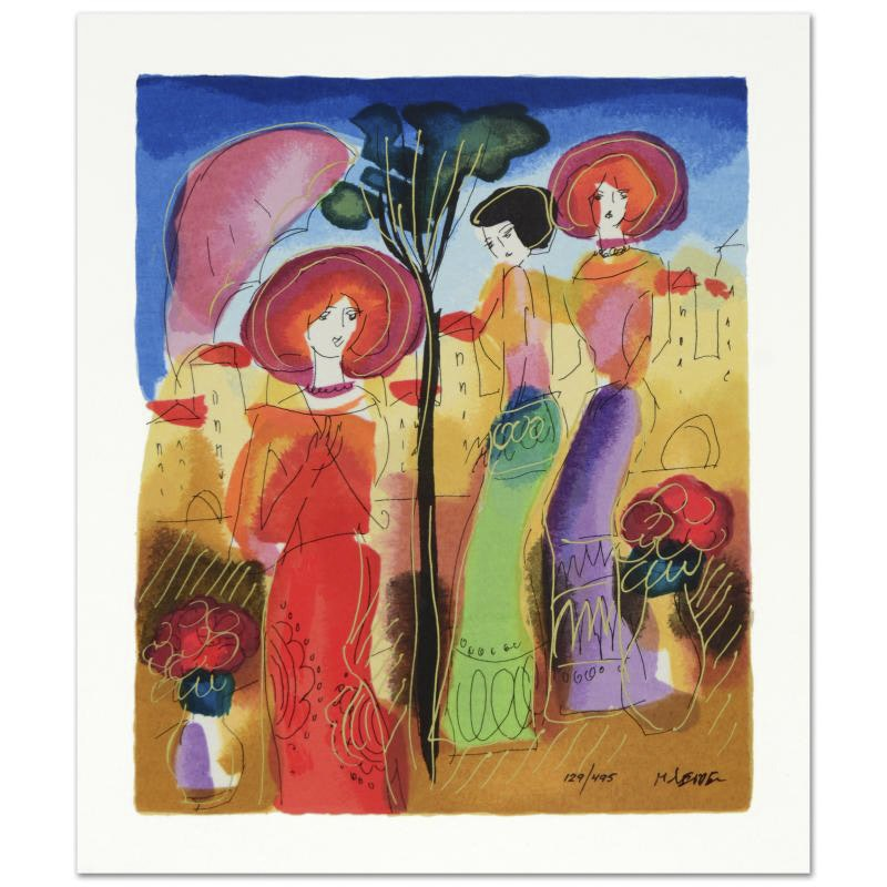 """Moshe Leider Limited Edition Serigraph """"Afternoon Walk"""""""