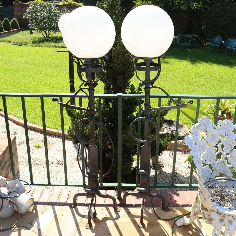 Outdoor Globe Light Posts