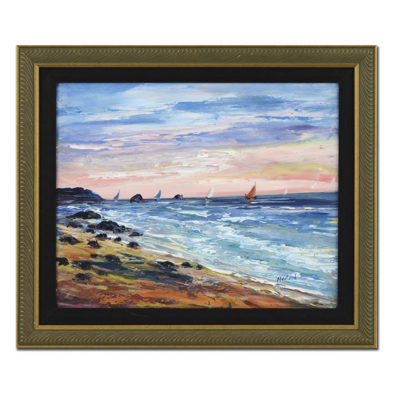 "Madani Oil on Canvas Board ""Untitled"""