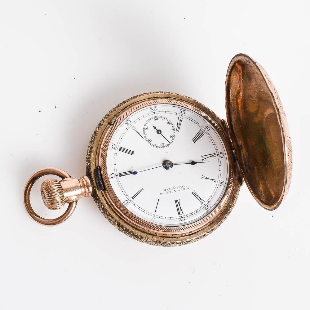 Antique U.S. Watch Co. Gold Filled Pocket Watch
