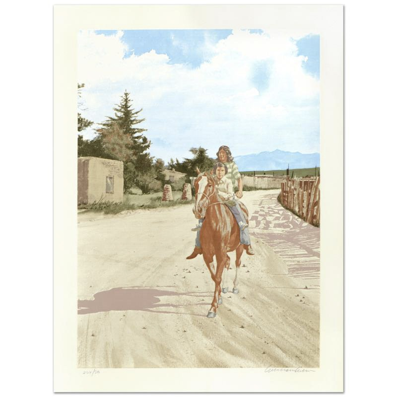 """William Nelson Limited Edition Serigraph """"Going to Town"""""""