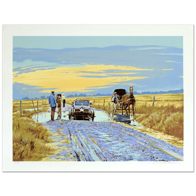 """William Nelson Limited Edition Serigraph """"Plenty of Advice"""""""