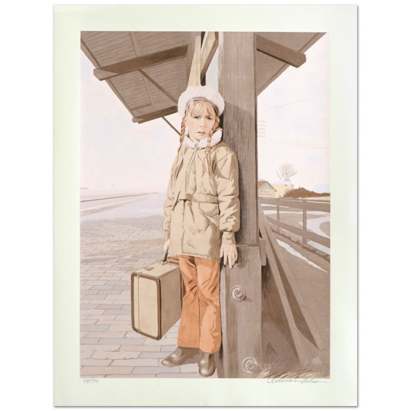 """William Nelson Limited Edition Serigraph """"Little Girl Lost"""""""