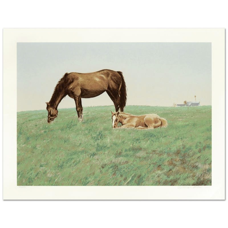 """William Nelson Limited Edition Serigraph """"Mare and Foal"""""""