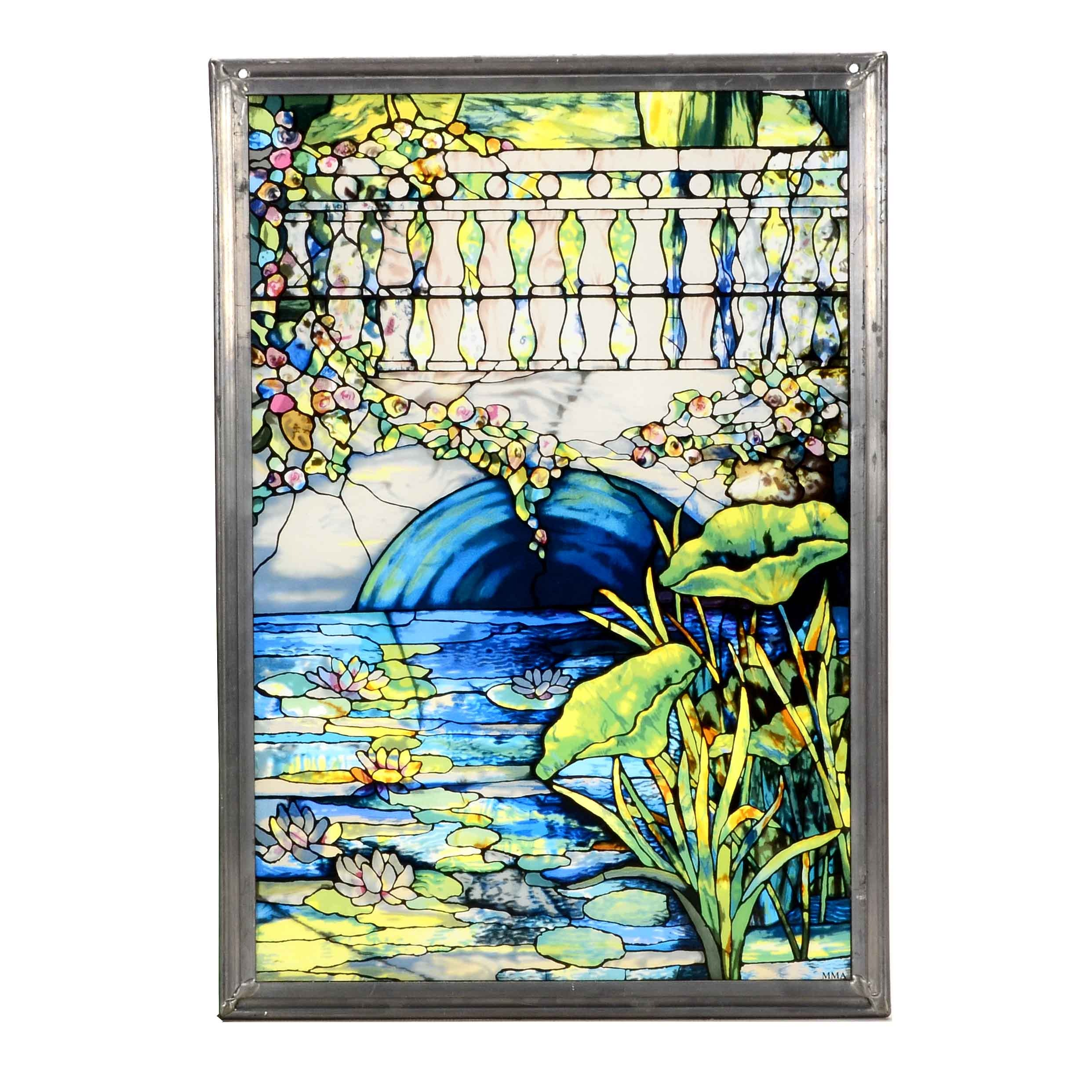Offset Lithograph on Glass Reproduction After Vincent Van Gogh