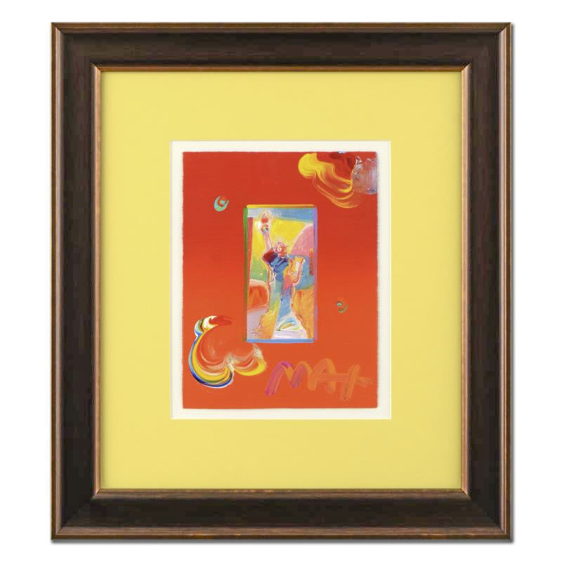 "Peter Max Mixed Media Artwork ""Full Liberty"""