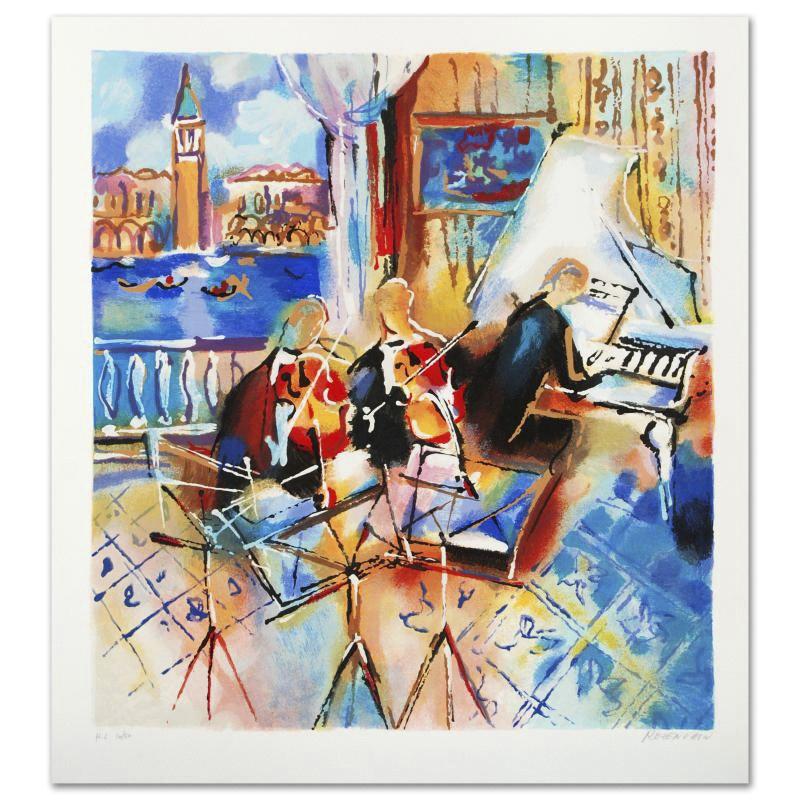 "Michael Rozenvain Limited Edition Serigraph ""Venetian Melody"""