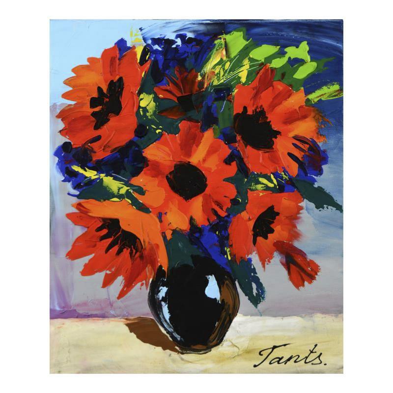 "Lena Tants Acrylic on Canvas ""Untitled"""