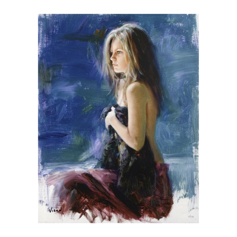 "Vidan Limited Edition Giclee on Canvas ""All Alone"""