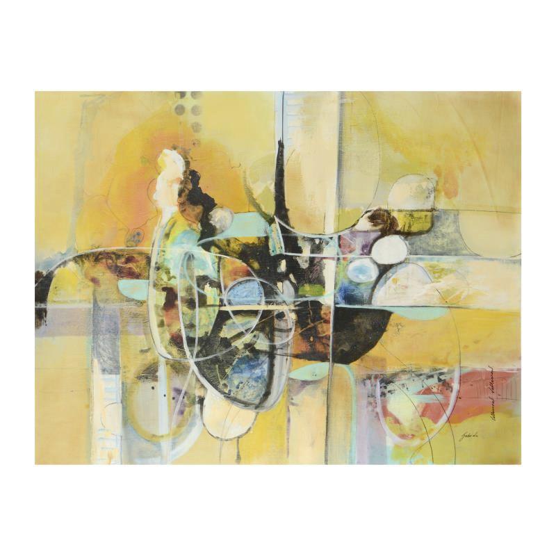 "Gabriella Villarreal Mixed Media on Canvas ""Untitled"""