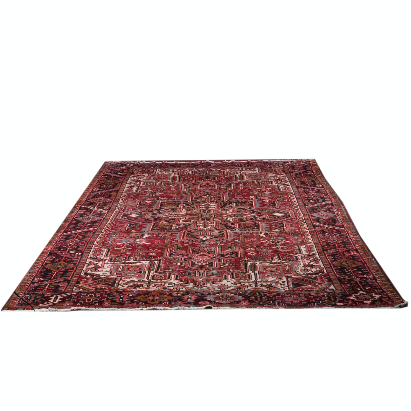 Handwoven Persian Heriz Wool Area Rug