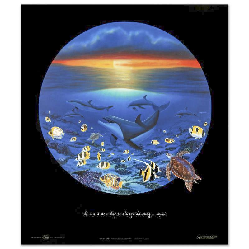 "Wyland Poster ""Sea of Life"""