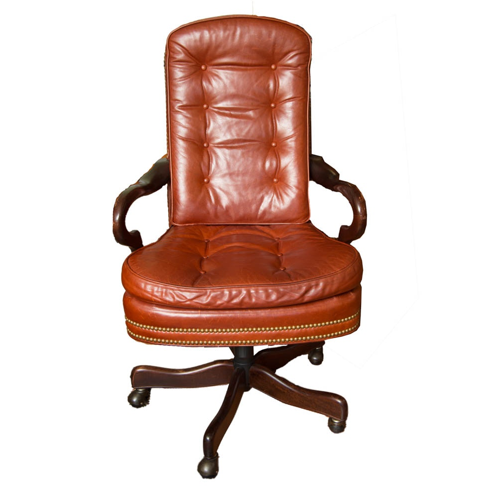 Brown Leather Executive Chair By Robb U0026 Stucky