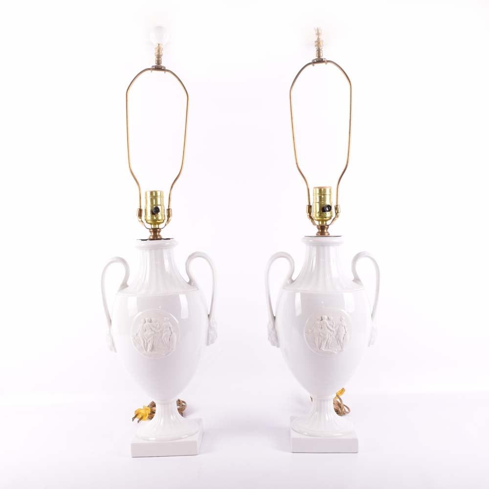 Ceramic Urn Table Lamps