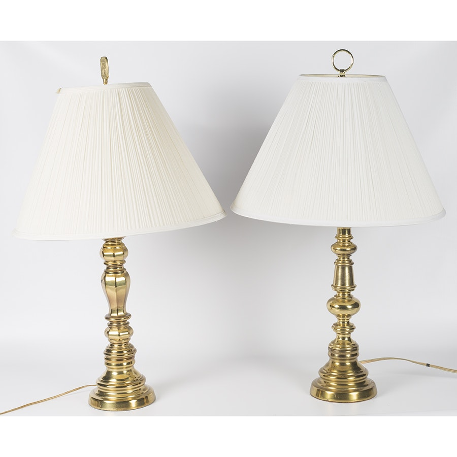 Vintage Brass Table Lamps by Leviton