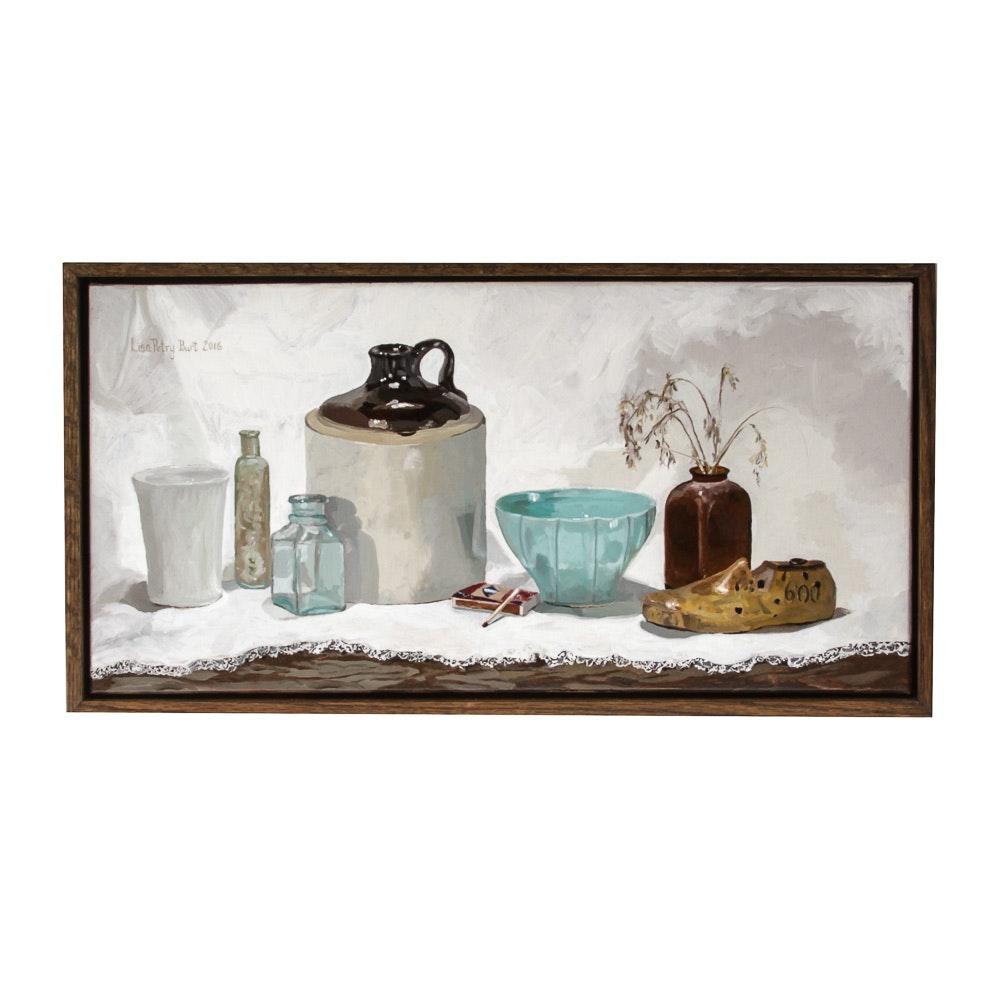 """Original Framed Oil Painting """"Still Life with Jug"""""""