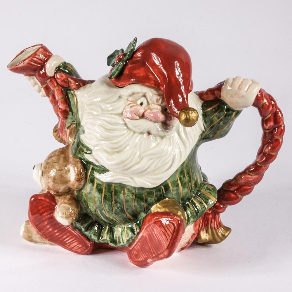 Vintage Fitz & Floyd Christmas Teapot