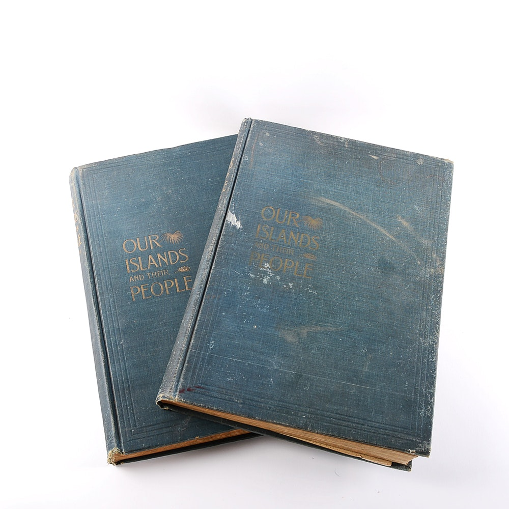 Our Lands and their People 2 volume book set