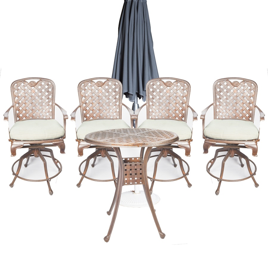 Patio Barstools and Pub Table