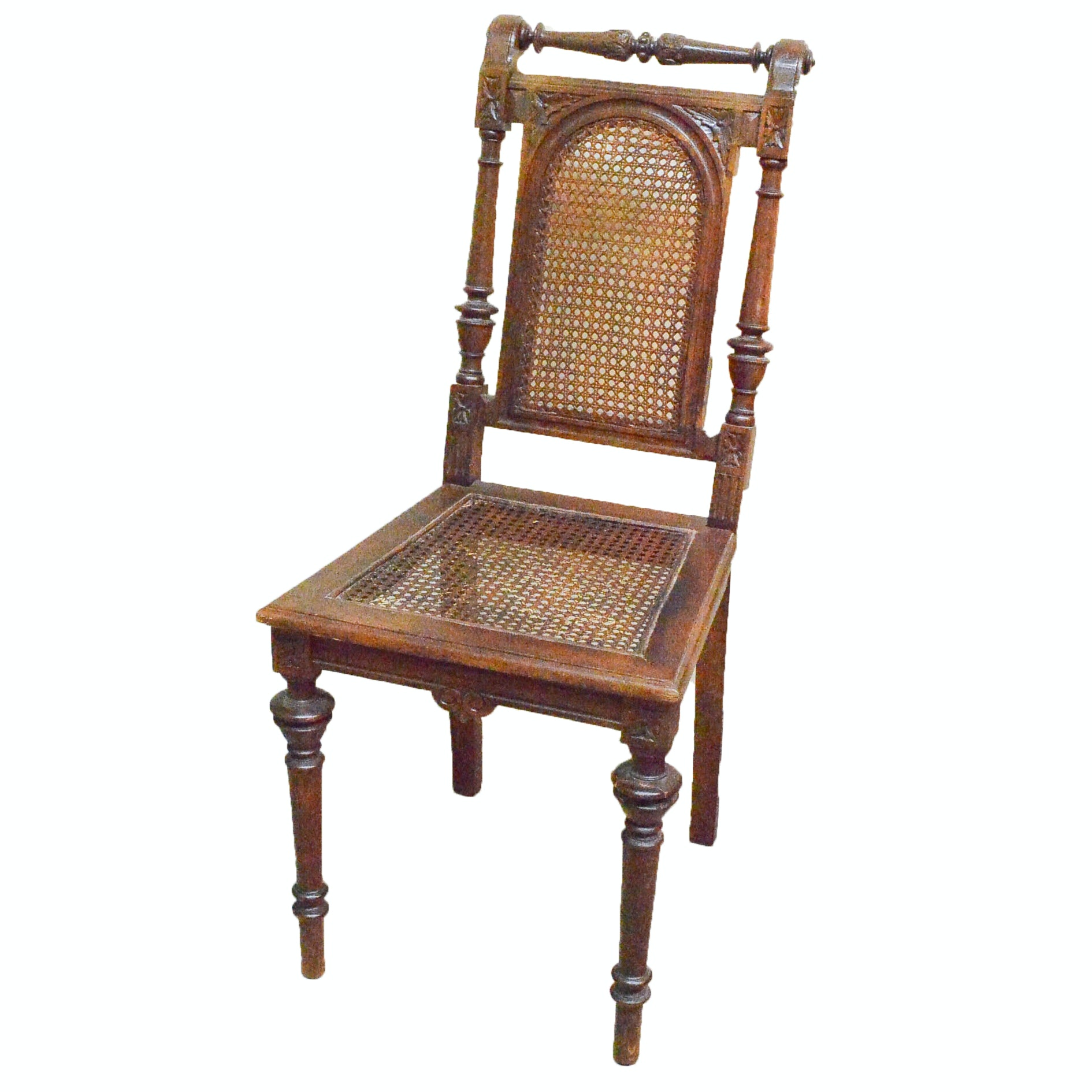 Louis XVI Style Caned Side Chair