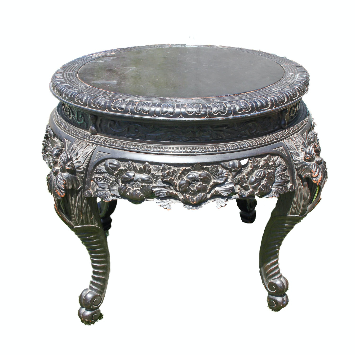 Hand Carved Chinoiserie Table