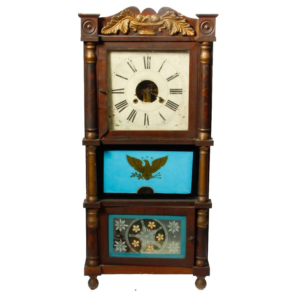 R & L Watkins Column Shelf Clock