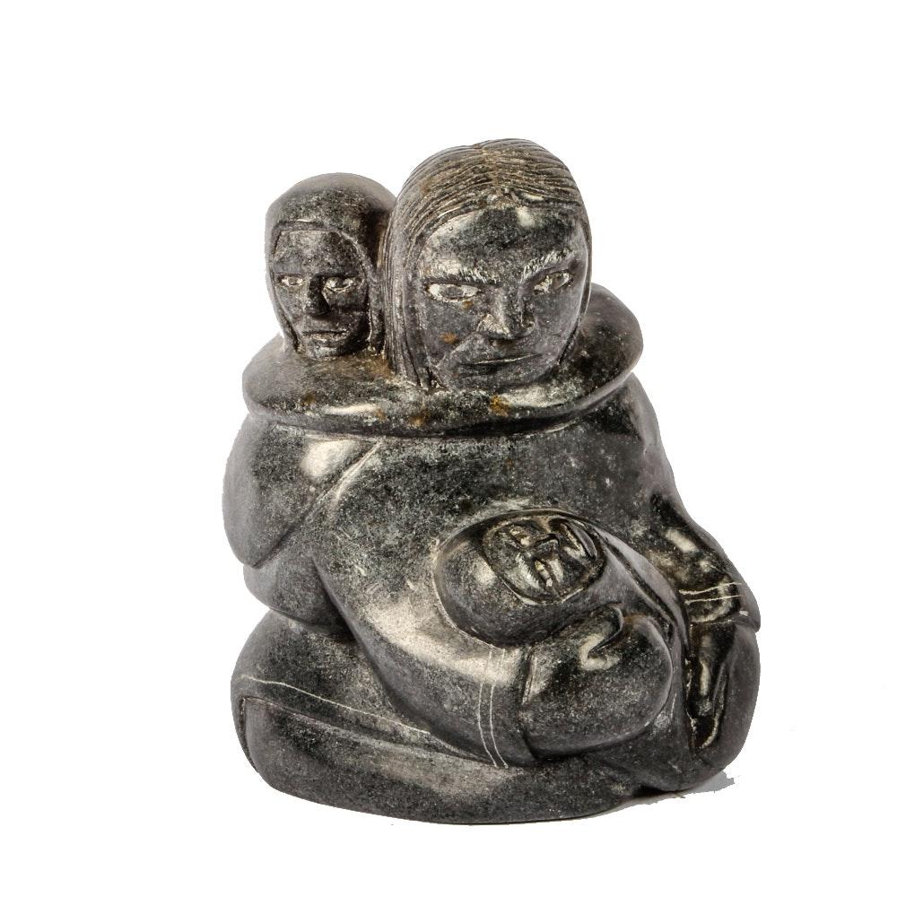 Ittuk Ainalik Inuit Serpentine Carving