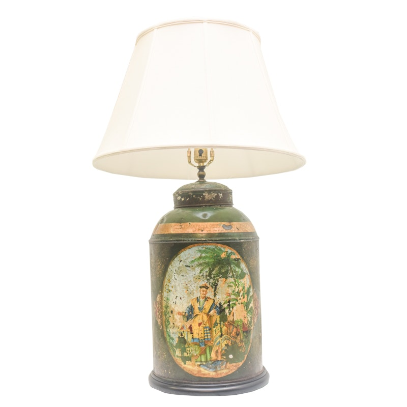 Vintage Chinoiserie Lamp; 1x1 ...