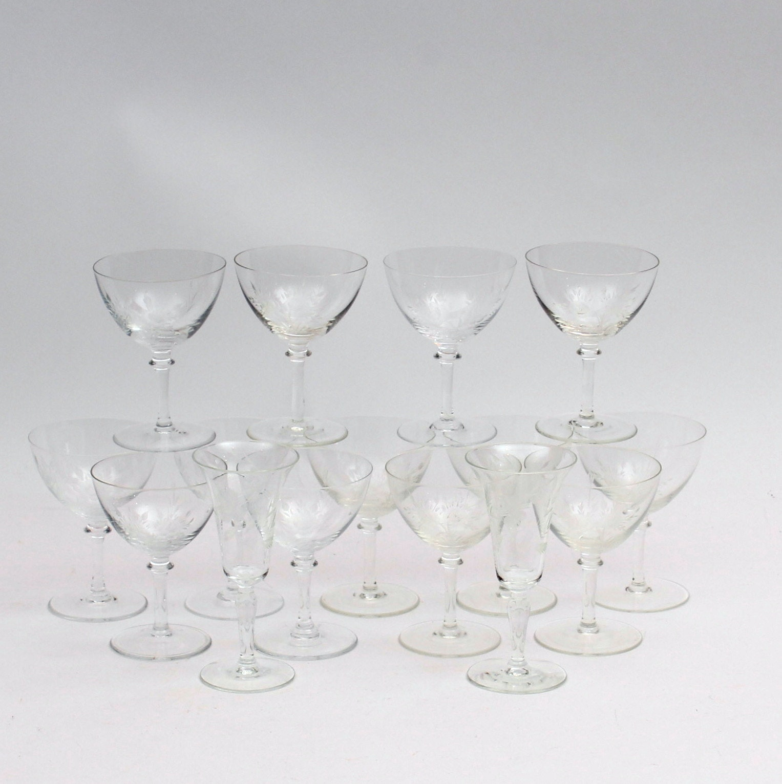 Hand-Etched Glassware