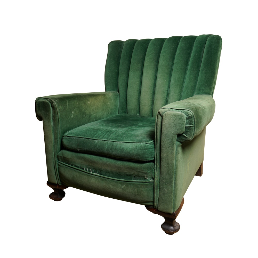 Vintage Channel Back Lounge Chair