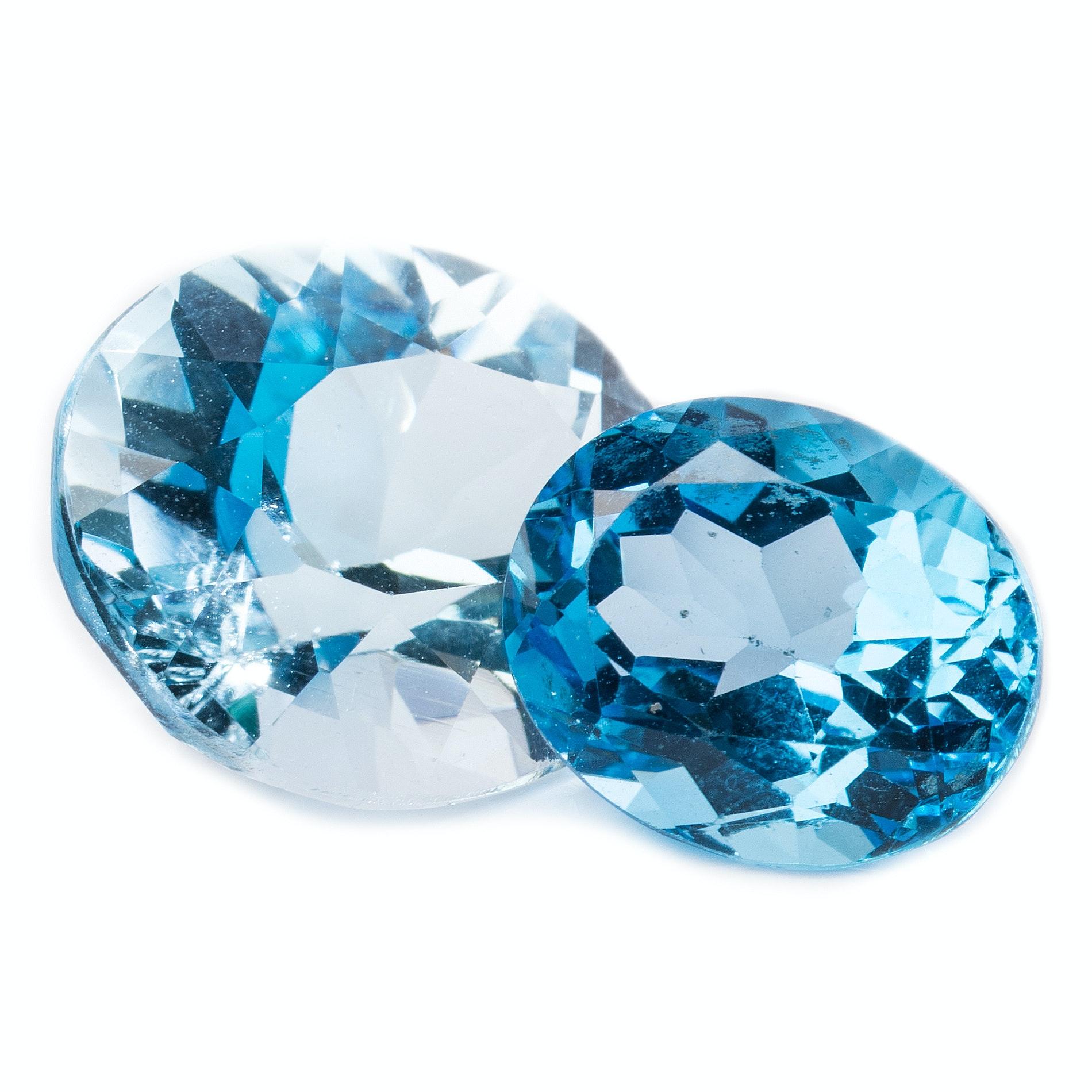 14.40 CTW Blue Topaz Stones