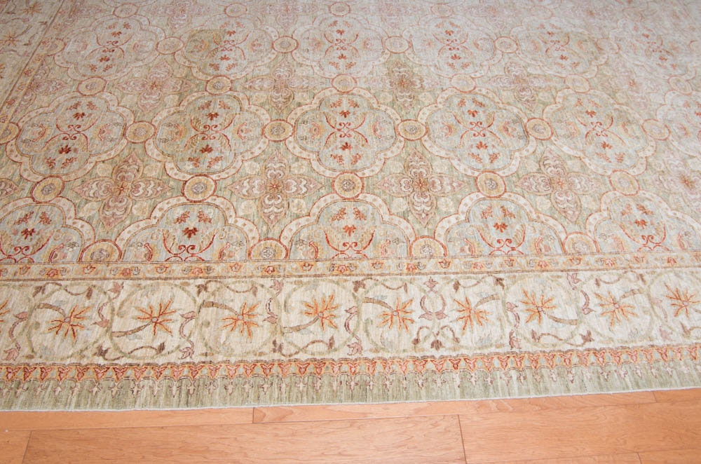 Large Hand-Knotted Indo-Persian Area Rug