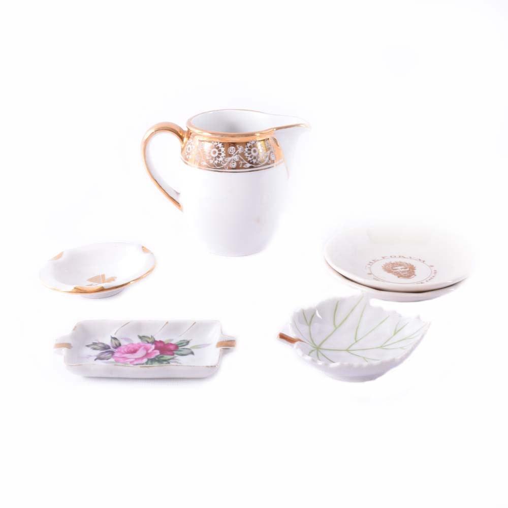 Vintage Gilded Porcelain Trinket Collection