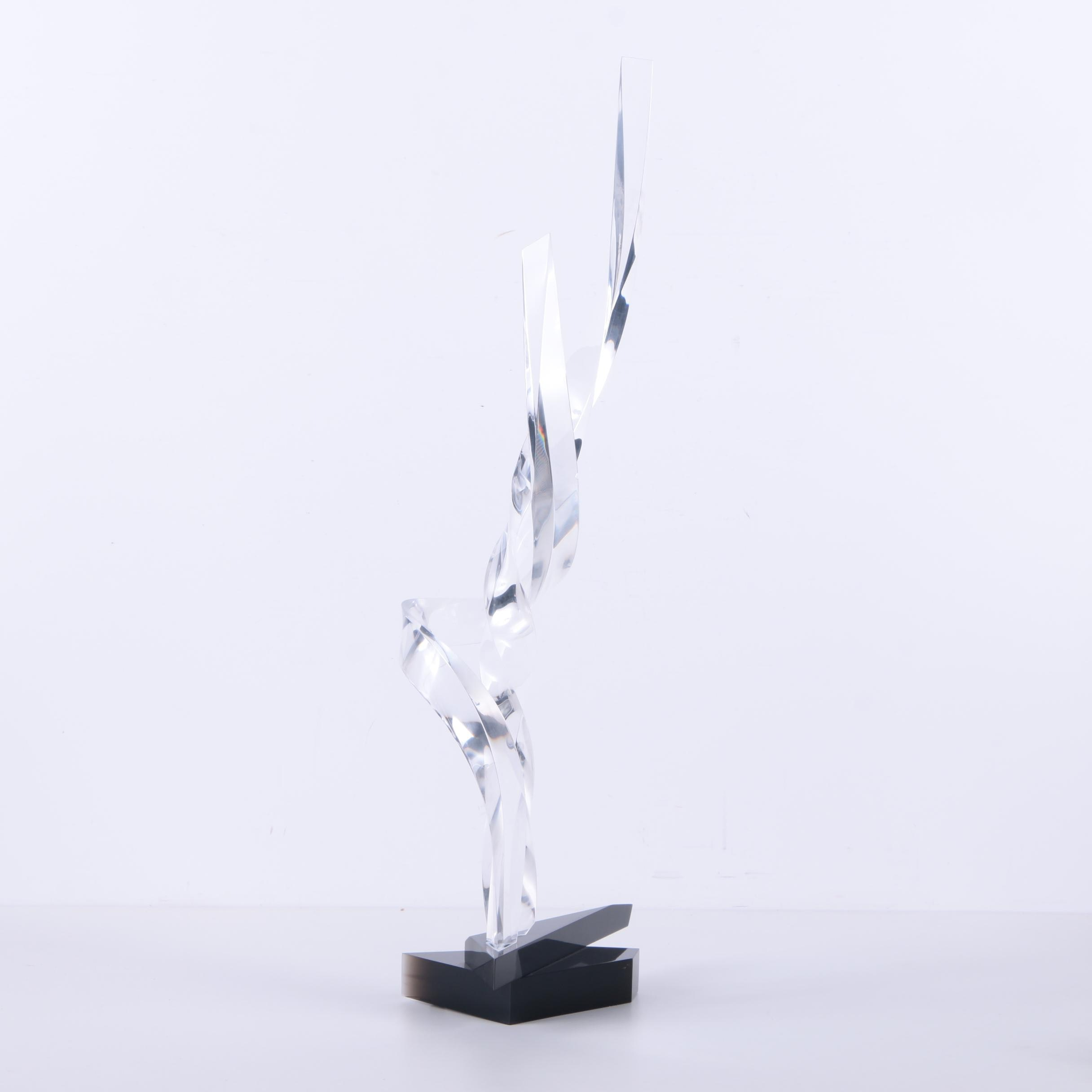 Signed Contemporary Acrylic Sculpture
