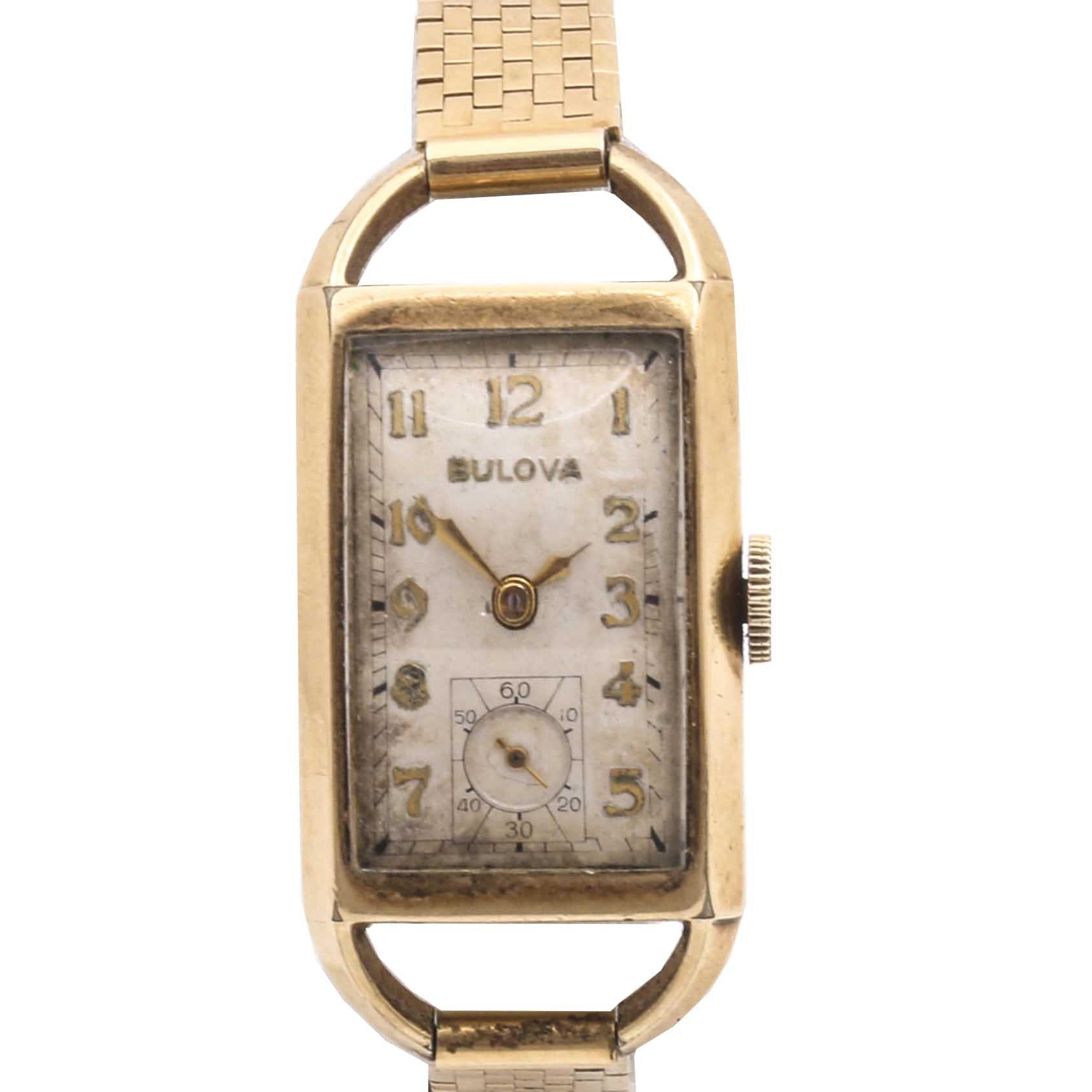 Bulova 10K Yellow Gold Filled Analog Wristwatch