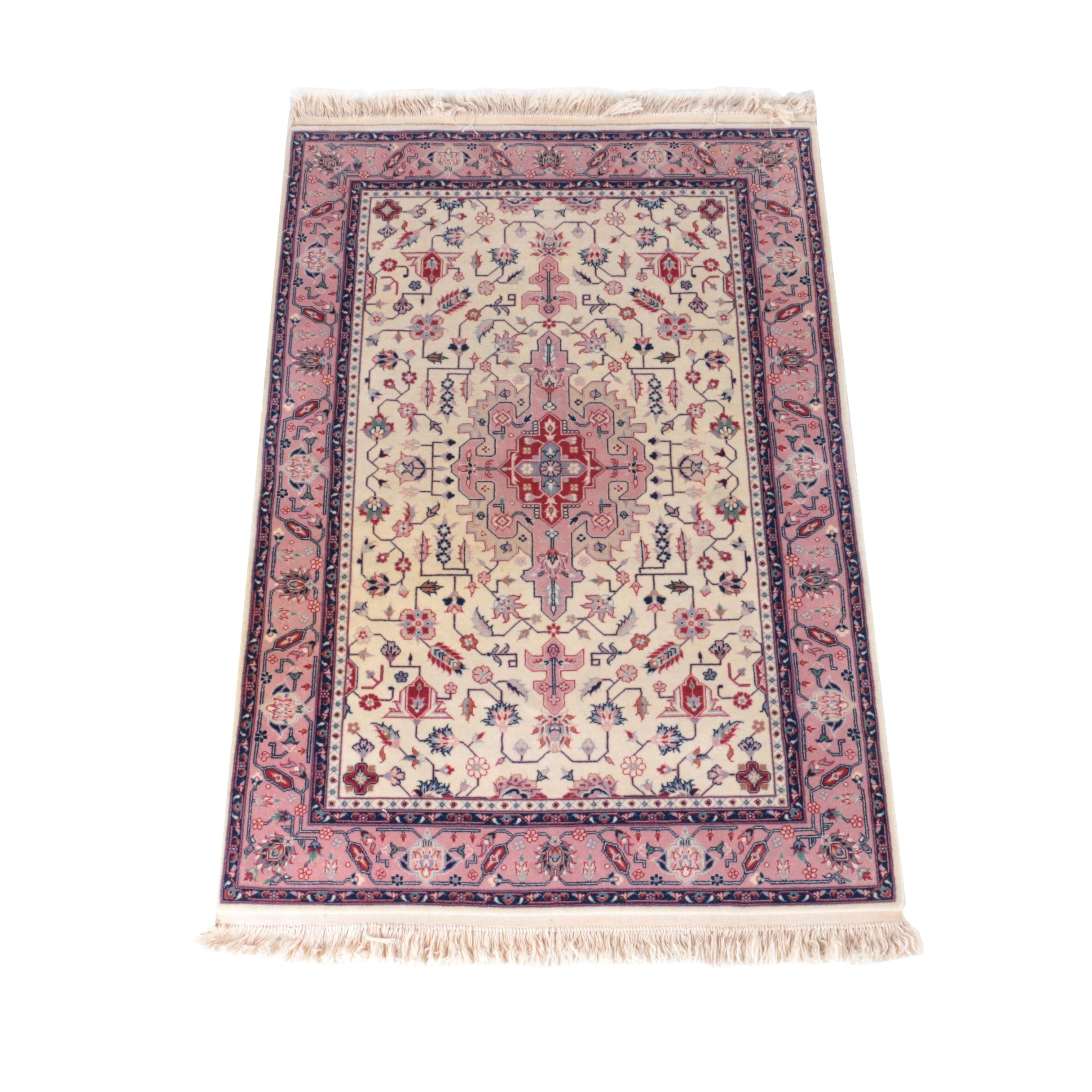 Hand-Knotted Sino-Persian Area Rug