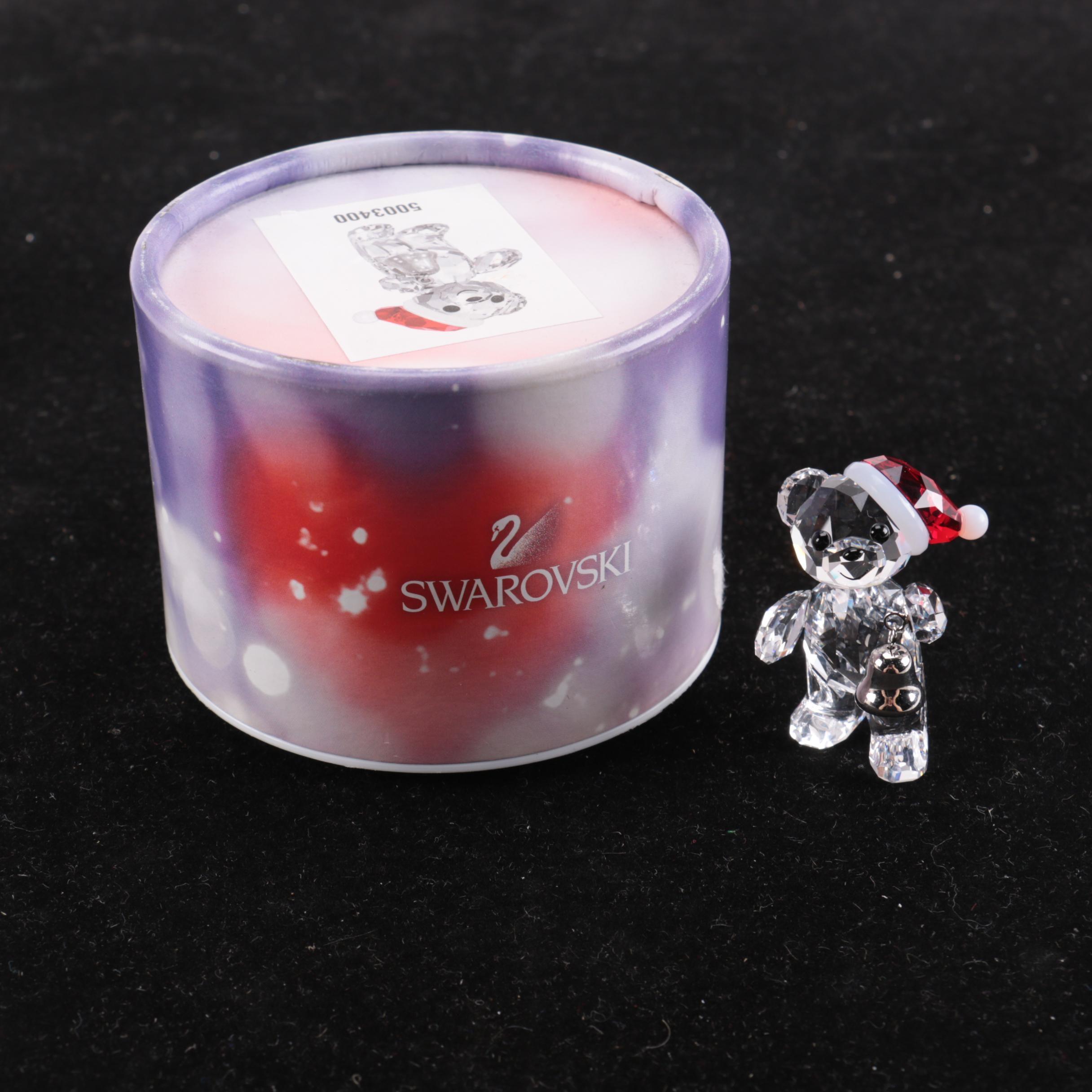 Swarovski 2013 Annual Christmas Kris Bear Crystal Figurine