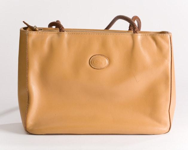 Vintage Tan Leather Tote