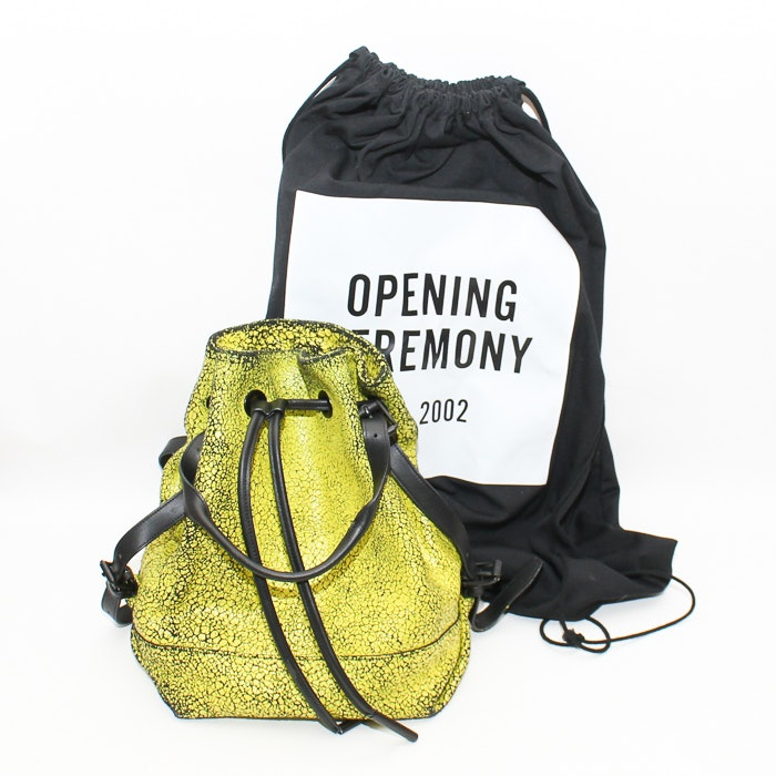 Opening Ceremony Cracked Leather Izzy Backpack