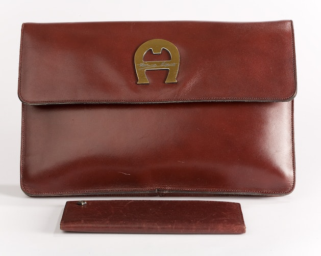 Vintage Etienne Aigner Leather Handbag and Checkbook Cover